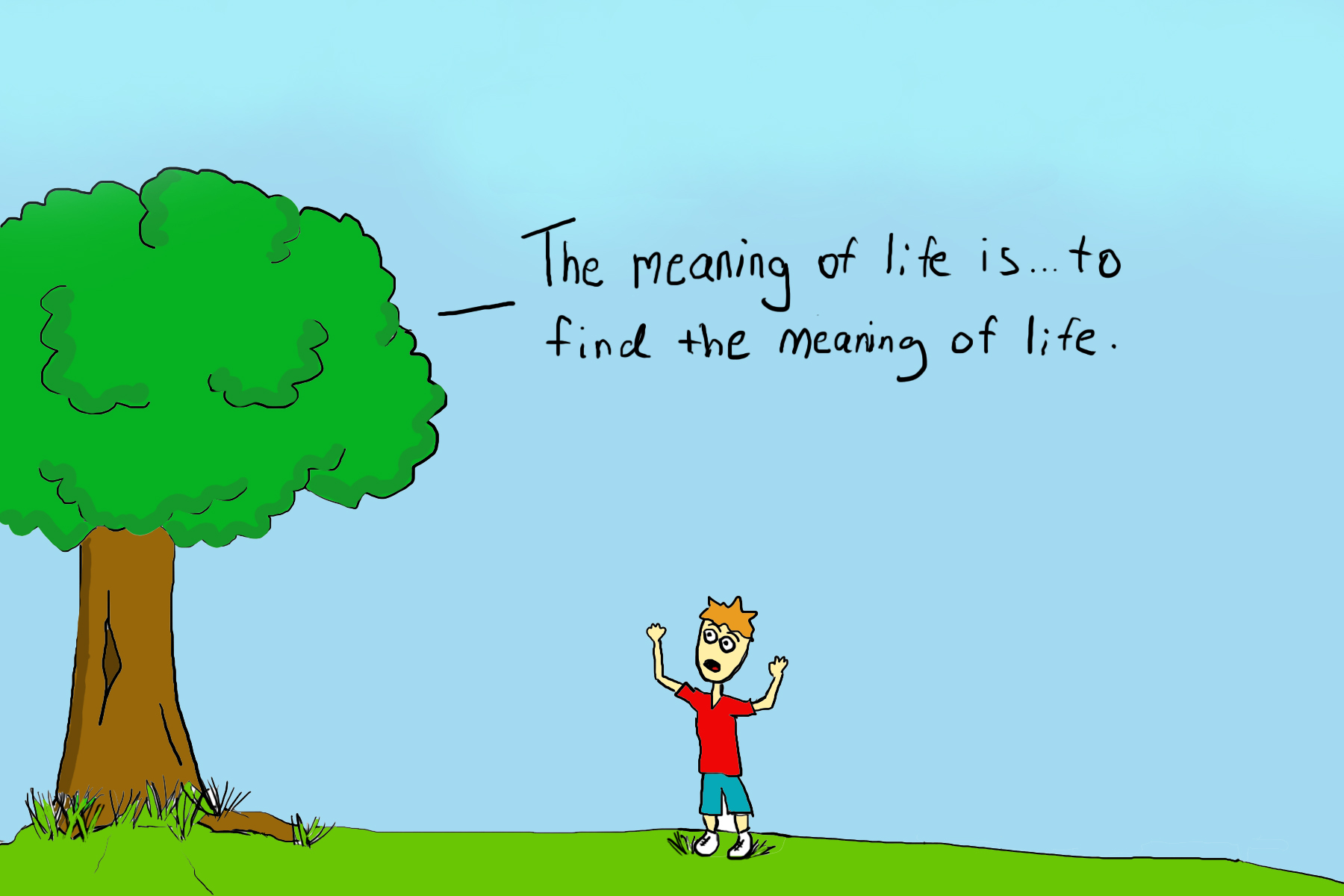 the meaning of life the unknowledge tree